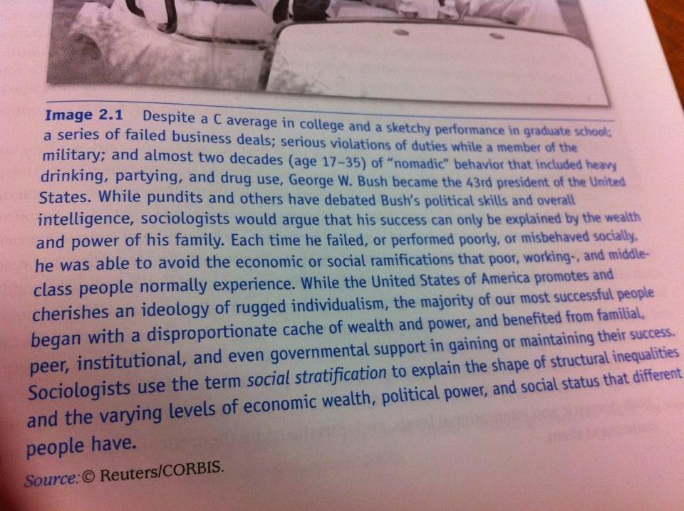 college text on President Bush