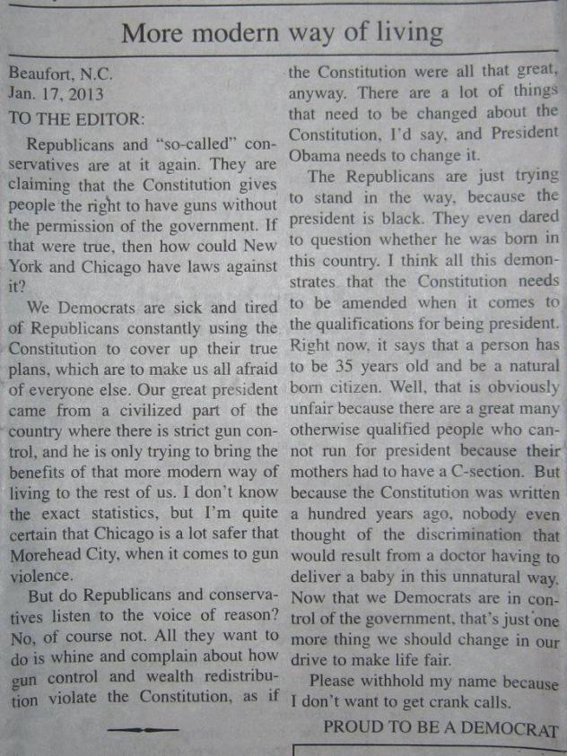 Proud Dem letter to the editor