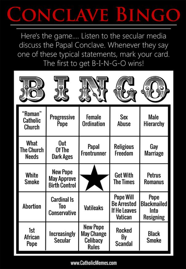 pope bingo
