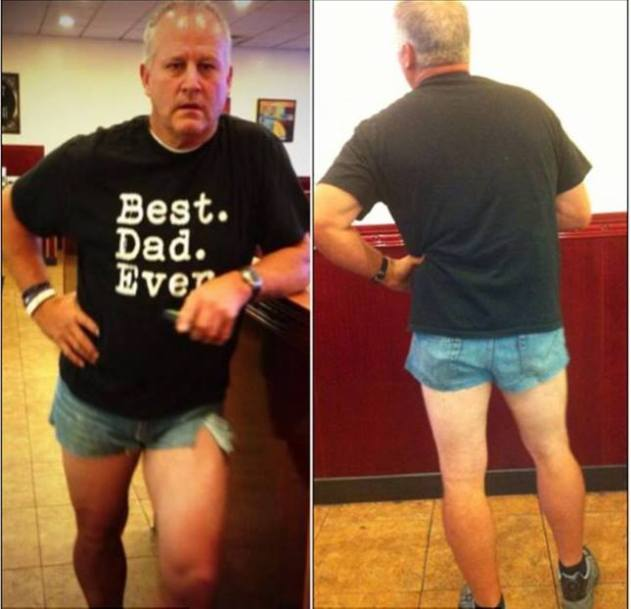 short shorts dad