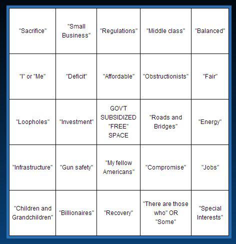 state of the union bingo